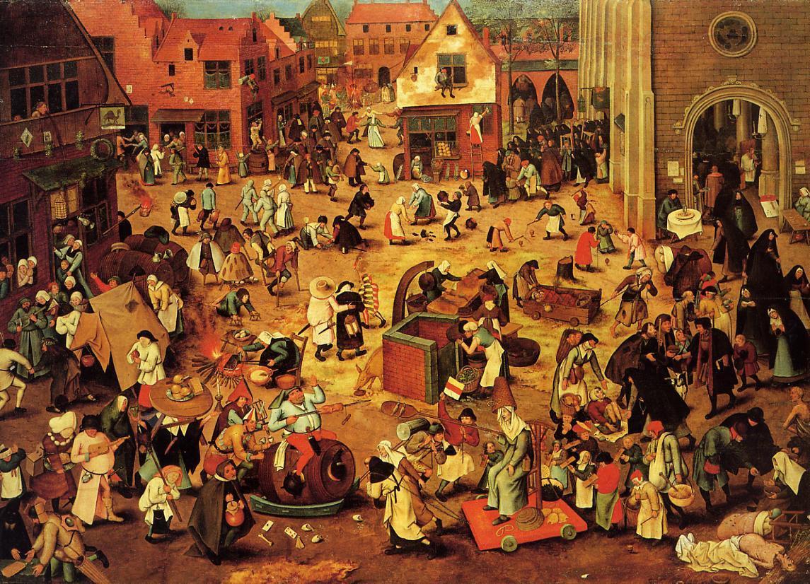 strijd tussen Carnaval en de Vasten, Breugel