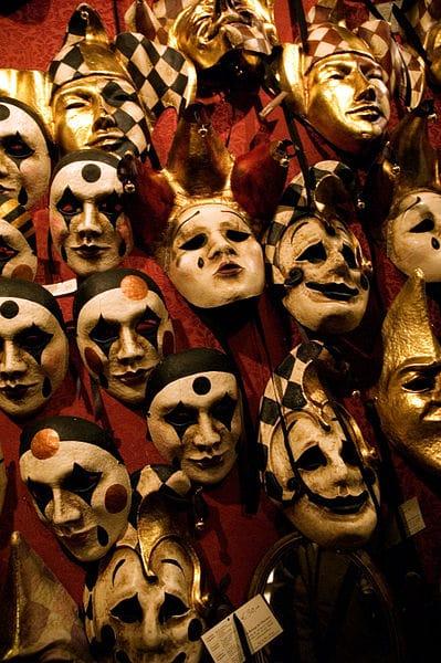 maskers carnaval venetie